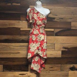 Dresses & Skirts - High low one shoulder dress
